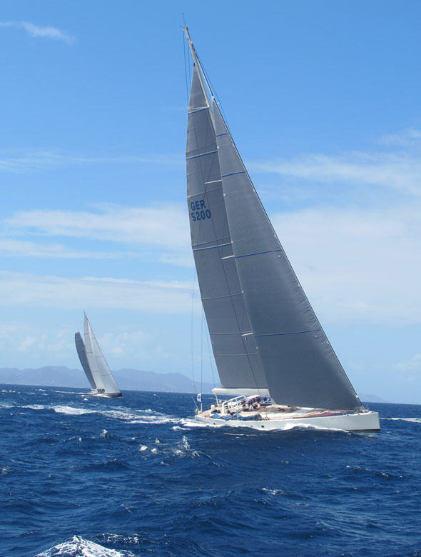 Sailing yachts at St Barths Bucket