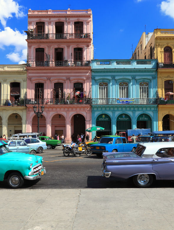 colourful buildings cuba