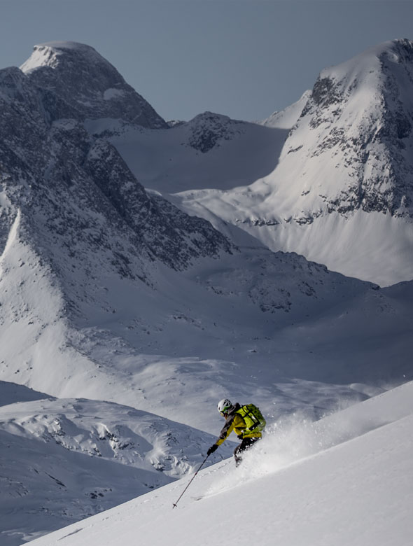 Skiing in Greenland