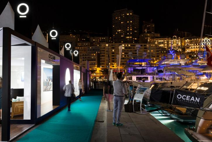 The Ocean Independence stand at the Monaco Yacht Show