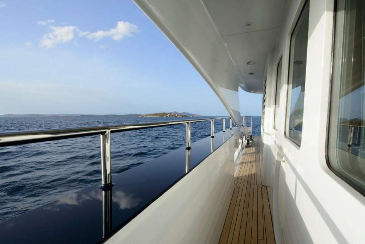 View from yacht side deck