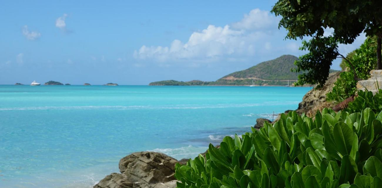 Beautiful Antigua is a popular charter destination