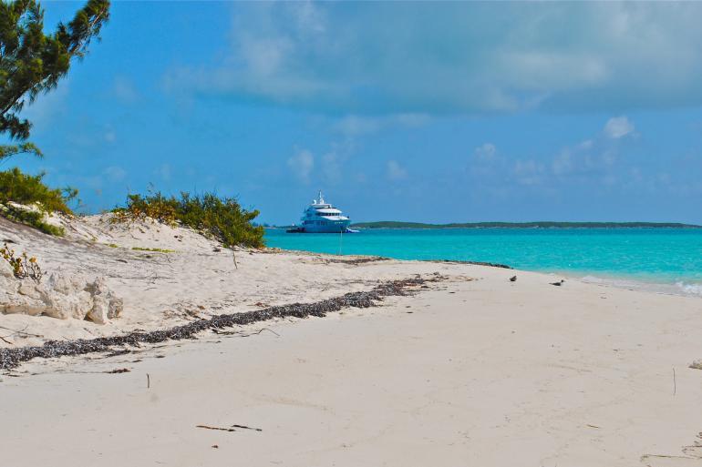 Yacht in the Bahamas
