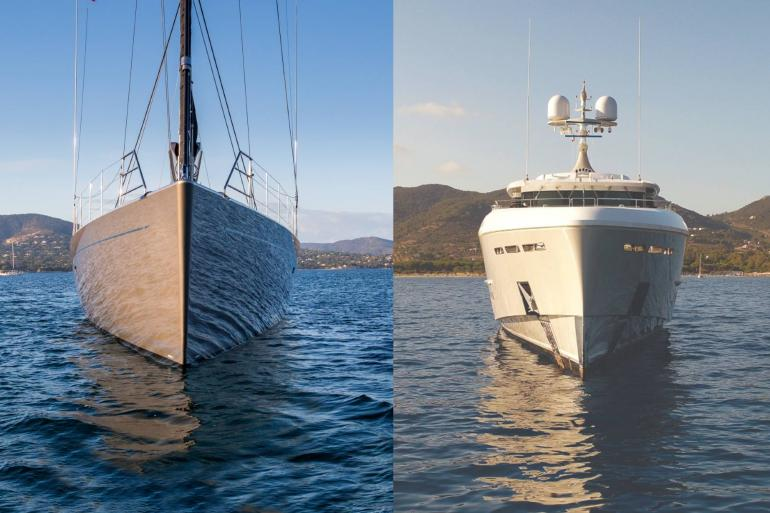 A motor yacht and sailing yacht for sale