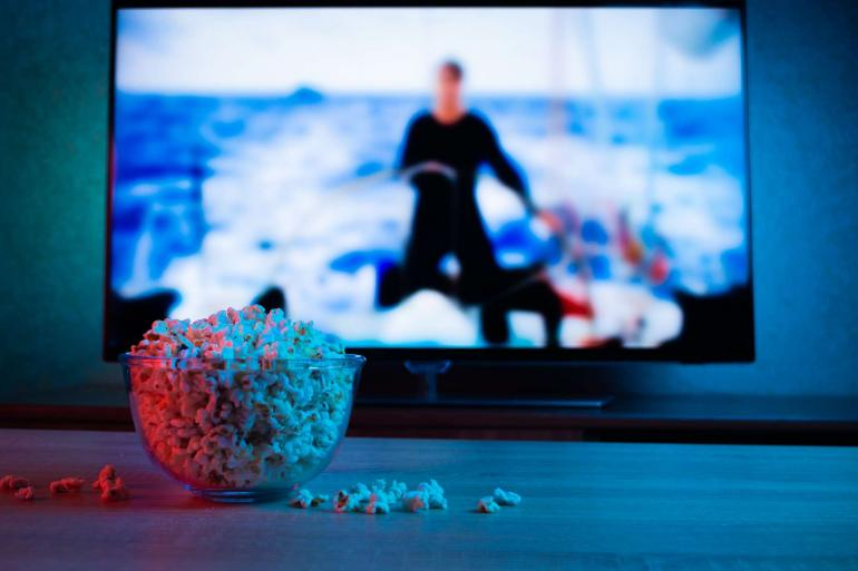 TV Screen on board a yacht