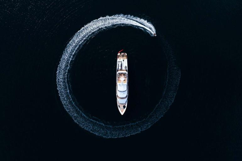 Yacht with Jetski