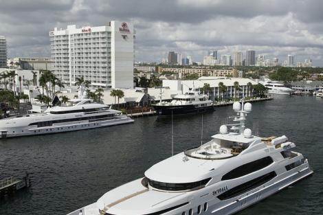 Hilton Marina at the Fort Lauderdale Boat Show