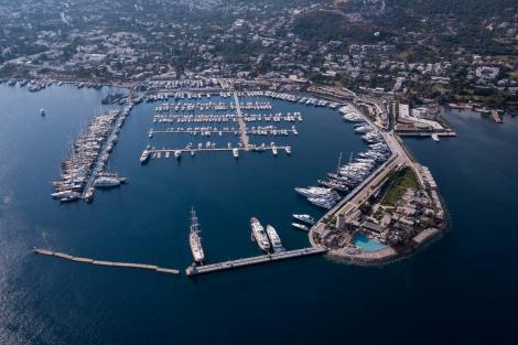 TYBA charter yacht show marina