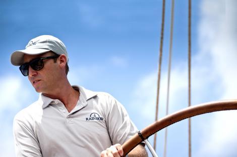 Broker David Lunn sailing