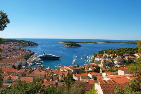 Yachts in a marina in Croatia