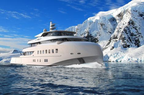 Hawk Ranger explorer yacht in the Arctic