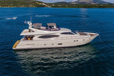 Motor yacht QUO VADIS I at anchor