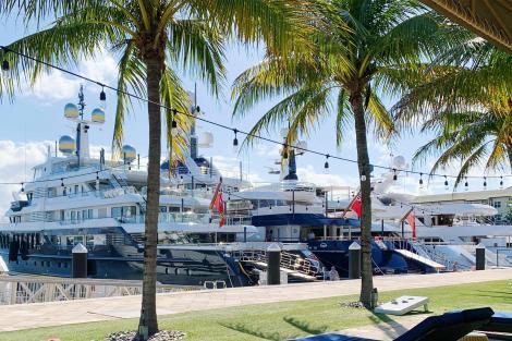 Yachts on display