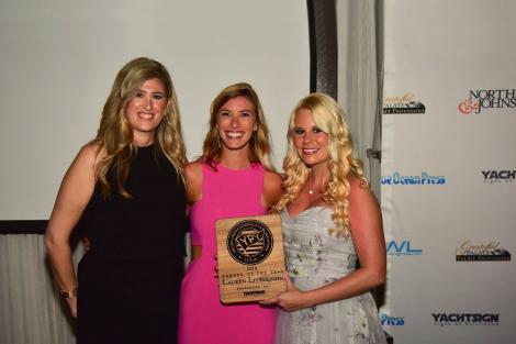 Lauren Littlejohn receiving her YPY award