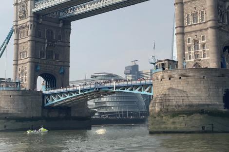 Superyacht Captain Mark Delstance arrives at Tower Bridge