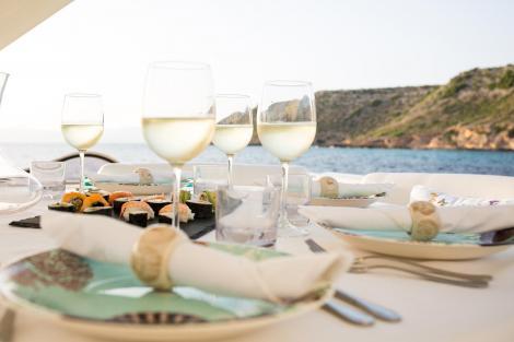 Wine on a Yacht