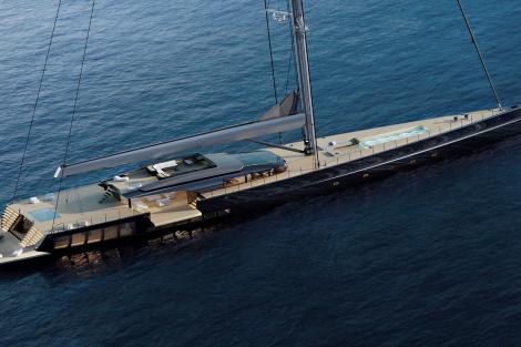 Sailing yacht exterior