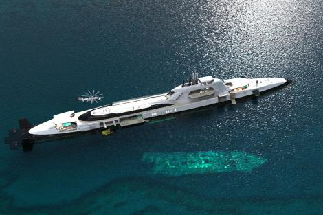 Migaloo M5, the 165m private submersible superyacht