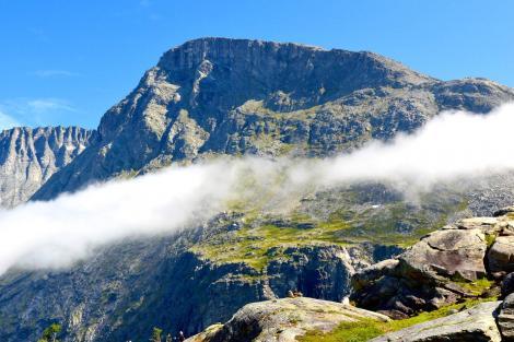 Mountain landscape with cloud