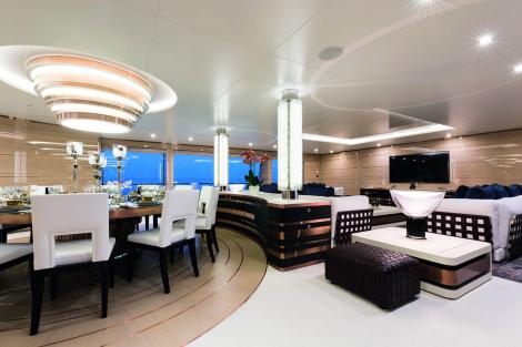 interior onboard superyacht