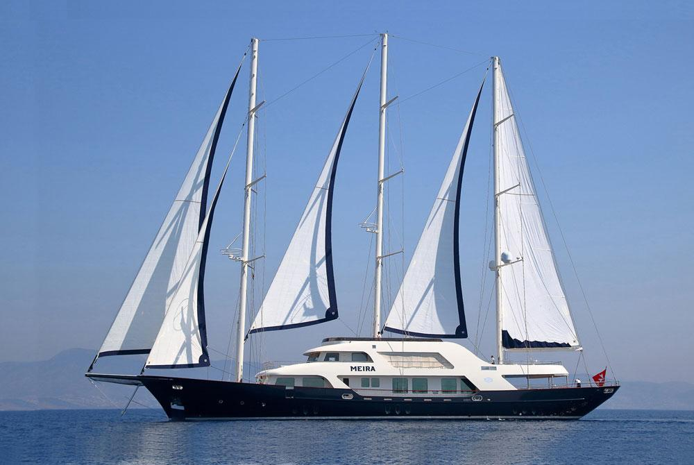 Sailing Yacht MEIRA for charter in the Mediterranean